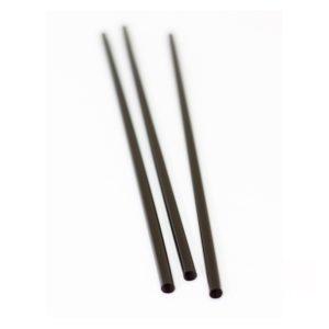 Slamice za koktejle ravne, črne, l=240mm, d=8mm 135 kos/pak