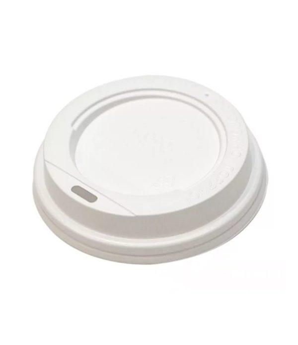 Pokrov z luknjo PS d=62 mm bel (100 kos/pak)