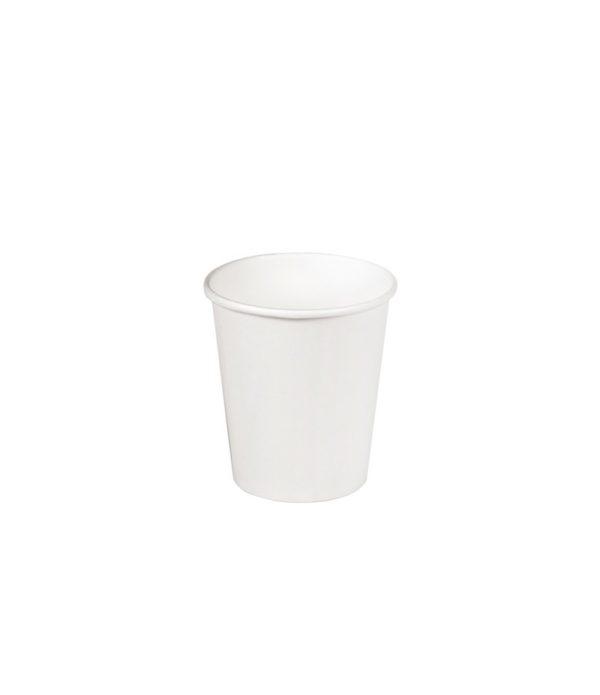 Papirnat kozarec 100 ml za tople napitke, d=62 mm bel