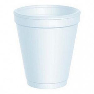 Kozarec stiropor 250 ml d=78 mm bel (100 kos/pak)