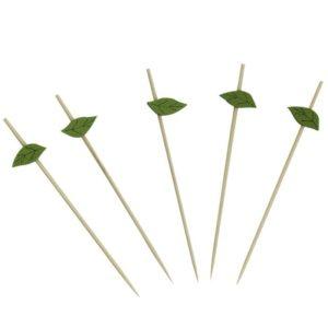 Leseno nabodalo 12 cm Zeleni list 100 kos/pak