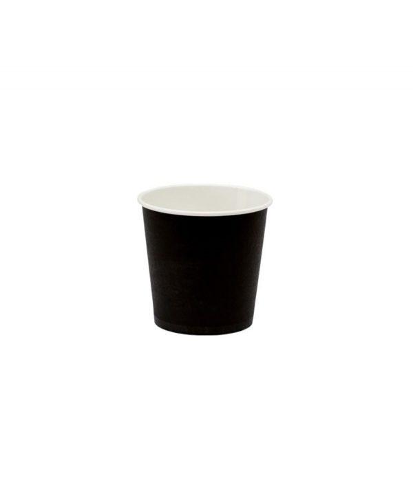 Papirnat kozarec 100 ml za tople napitke, d=62 mm črn (50 kos/pak)