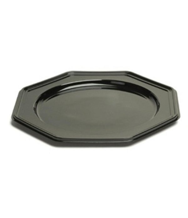 Pladenj Sabert 8-kotni, d=30 cm črn (10 kos/pak)