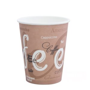 Papirnat kozarec 250 ml d=80 mm 1-slojni Coffee (50 kos/pak)