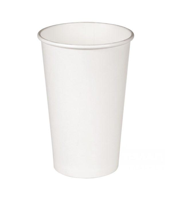 Papirnat kozarec 400 ml d=90 mm 1-slojni bel (50 kos/pak)