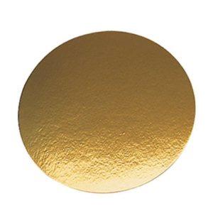 Podstavek za torto kartonasti d=240 mm zlat (50 kos/pak)