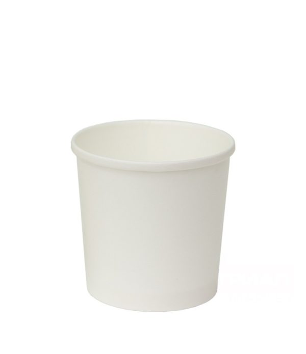 Papirnata posoda za juho 300 ml d=90 mm h=85 mm bela (100 kos/pak)