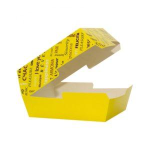 Škatla Fiesta za hamburger 118x117x71mm, rumena