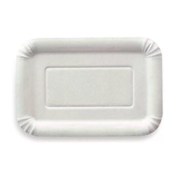 Papirnat krožnik 140×210 mm bel glaziran (2500 kos/pak)