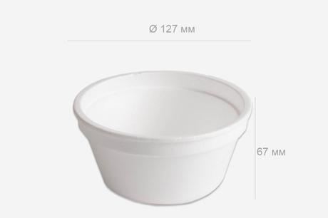 Posodica za juho s pokrovom stiropor 410 ml, 576 kos (komplet)