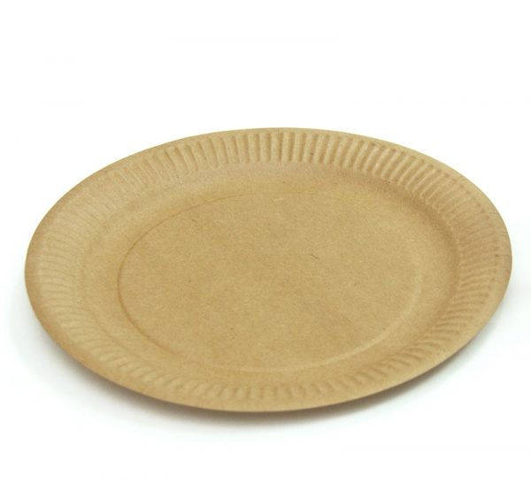 Papirnat krožnik d=230 mm kraft (100 kos/pak)