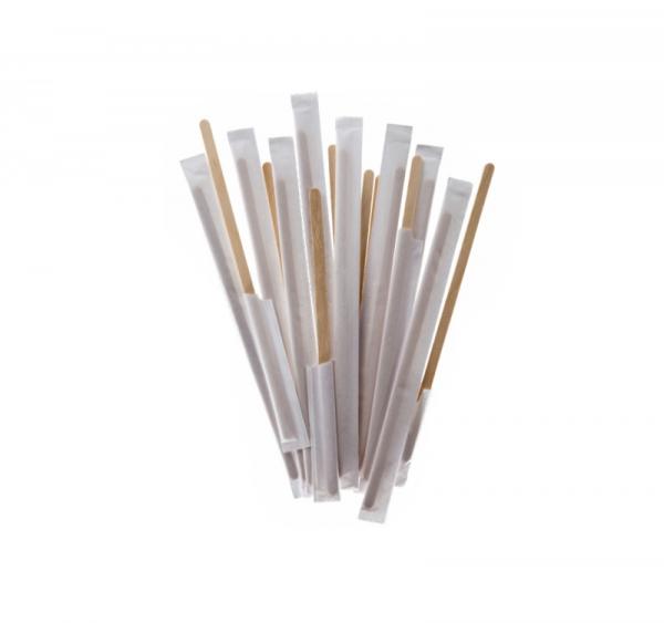 Mešalna palčka lesena 17,8 cm, posamično pakiranje, 250 kos/pak