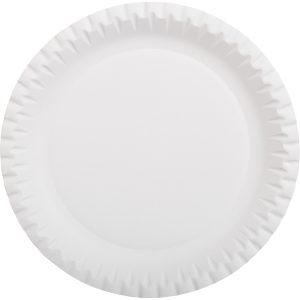 Okrogel krožnik d=230 mm bel (100 kos/pak)