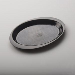Pladenj PP Gold Plast d=18,5 cm črni (50 kos/pak)
