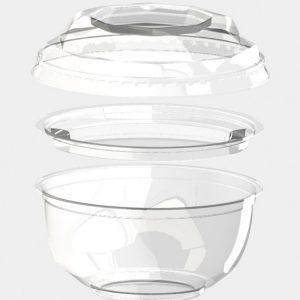 Pokrov za posodico BOPS d=110 mm prozoren (1000 kos/pak)