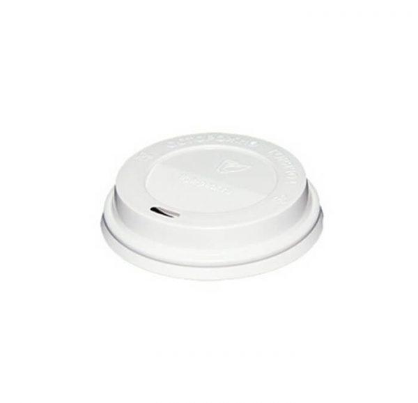 Pokrov z luknjo PS d=80 mm bel (100 kos/pak)