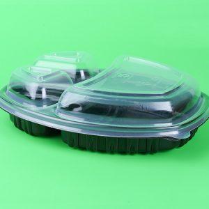 Pokrov za 3-delno posodico PP 257x202x35 mm prozoren (70 kos/pak)