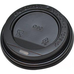 Pokrov s stransko luknjo PS d=90 mm črn (100 kos/pak)