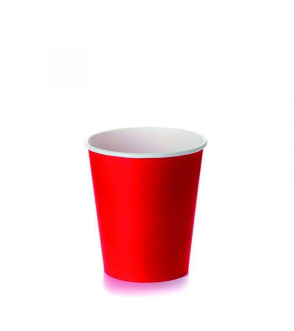 Papirnat kozarec 250 ml d=80 mm 1-slojni rdeč (50 kos/pak)
