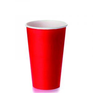 Papirnat kozarec za tople napitke 400 (518) ml rdeč (50 kos/pak)