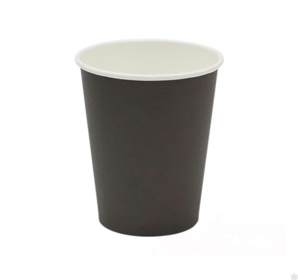 Papirnat kozarec za tople napitke 300 (364) ml črn (50 kos/pak)
