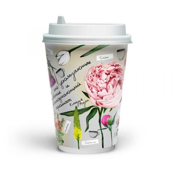 Papirnat kozarec 400 ml d=90 mm 2-slojni Fleur di Cafe (16 kos/pak)