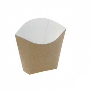 Žepek za krompirček 81x49x107 mm kraft (25 kos/pak)