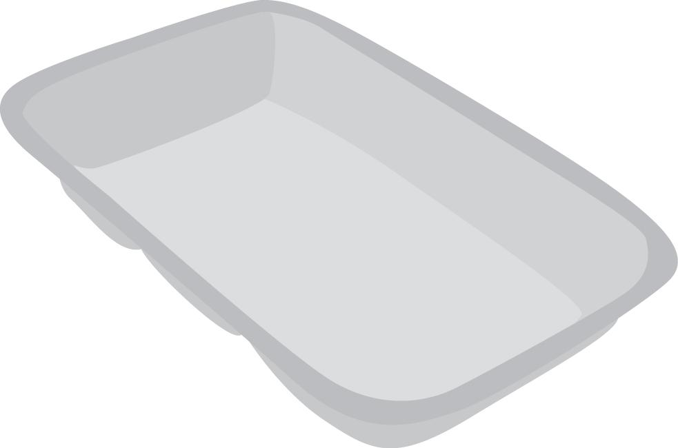 Pladnji in podlage iz EPS in plastike