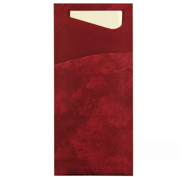 Žepek za pribor s prtičkom 33×33 cm 2 sl Duni 100 kos/pak