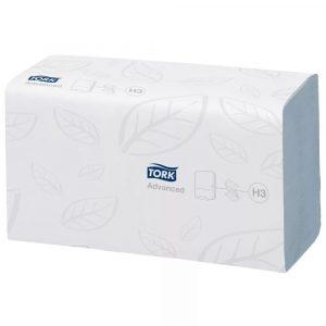 Papirnate brisače ZZ 2 sl 250 l/pak Tork Advanced H3 (290163)