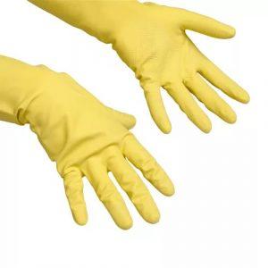 Gumijaste rokavice Vileda Contract L rumene