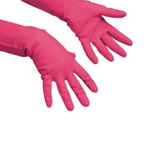 Gospodinjske rokavice Vileda rdeče M