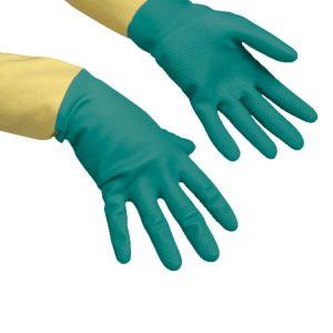 Gumijaste rokavice Vileda HeavyWeight L zelene ojačane