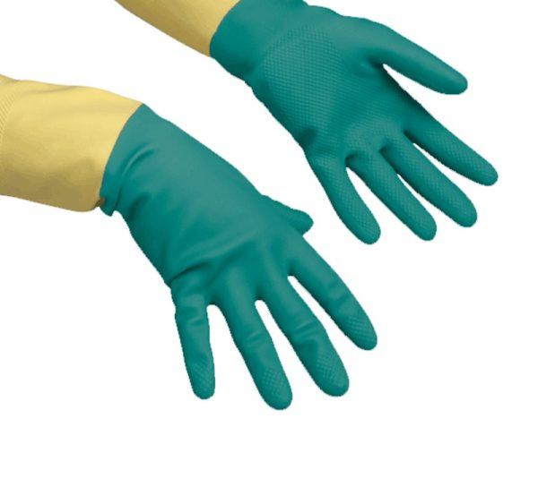 Gospodinjske rokavice Vileda HeavyWeight zelene ojačane L