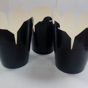 Papirnata posodica za azijsko hrano 700 ml črna (450 kos/pak)