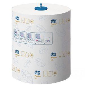 Papirnate brisače v roli 2 sl 100 m Tork Premium beli z modrim reliefom (290016)