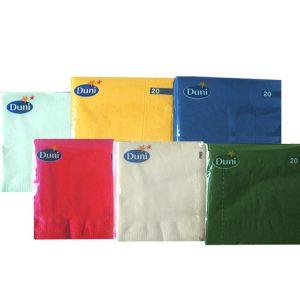 Papirnati prtički 3 sl 24×24 cm Duni beli 250 l/pak