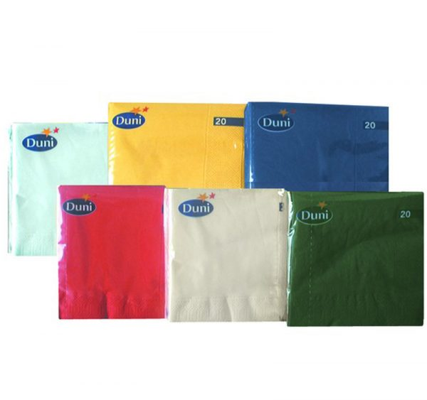 Papirnati prtički 3 sl 24×24 cm Duni beli 250 kos/pak