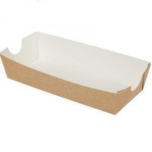 Papirnat čolniček za Hot Dog 85 х 190 х 42 mm kraft (100 kos/pak)