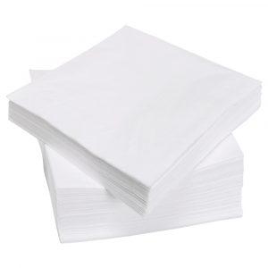 Papirnati prtički Tambien 1-sloj 24 х 24 cm (100 prtičkov/zavoj) beli