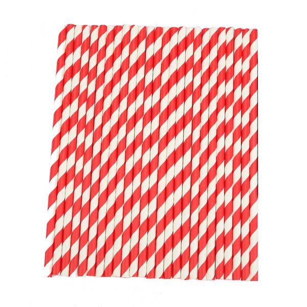 Slamice papirnate Lollipop l=195 mm d=6 mm 250 kos/pak