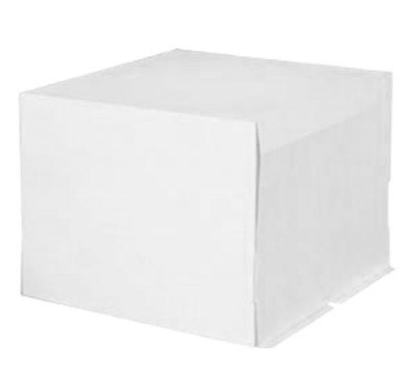 Škatla za torto kartonast 400 x 400 x 300 mm bel, 20 kos (komplet)