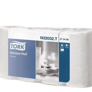 Papirnate brisače v roli 2 sl Tork beli (473498/32032)