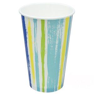 Papirnat kozarec za hladne napitke 400 (518) ml enoslojen STRIPS (50 kos/pak)