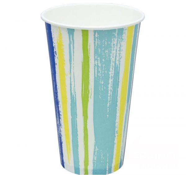 Papirnat kozarec 500 ml d=90 mm 1-slojni Trakovi za hladne napitke (50 kos/pak)