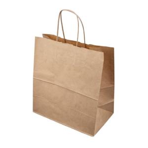 Papirnata vrečka z ročajem 320 x 200 x 320 mm kraft (200 kos/pak)