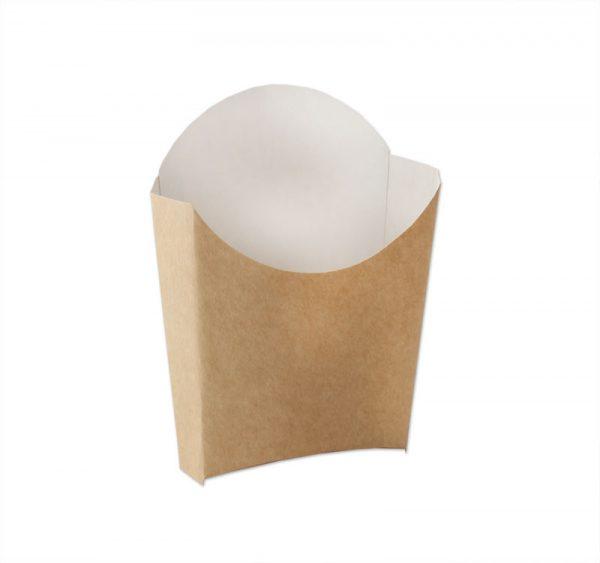 Žepek za krompirček Ecoline 100x130x40 mm kraft (50 kos/pak)