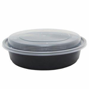 Pravokotna posodica s pokrovom PP 700 ml črna (150 kos/pak)