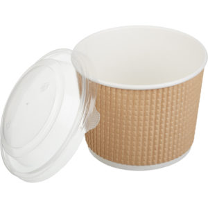 Papirnata posoda s pokrovom Tambien ECO 520 ml, 50 kos (komplet)