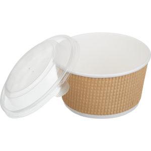 Papirnata posoda s pokrovom Tambien ECO 720 ml, 50 kos (komplet)